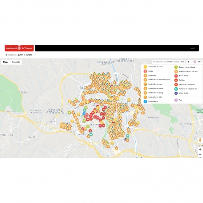 Sentilo Terrassa (Smart City Open Data)